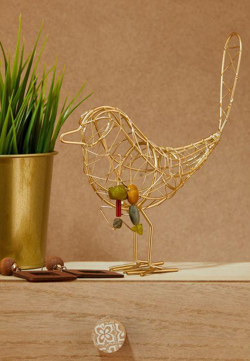حامل مجوهرات شكل طائر
