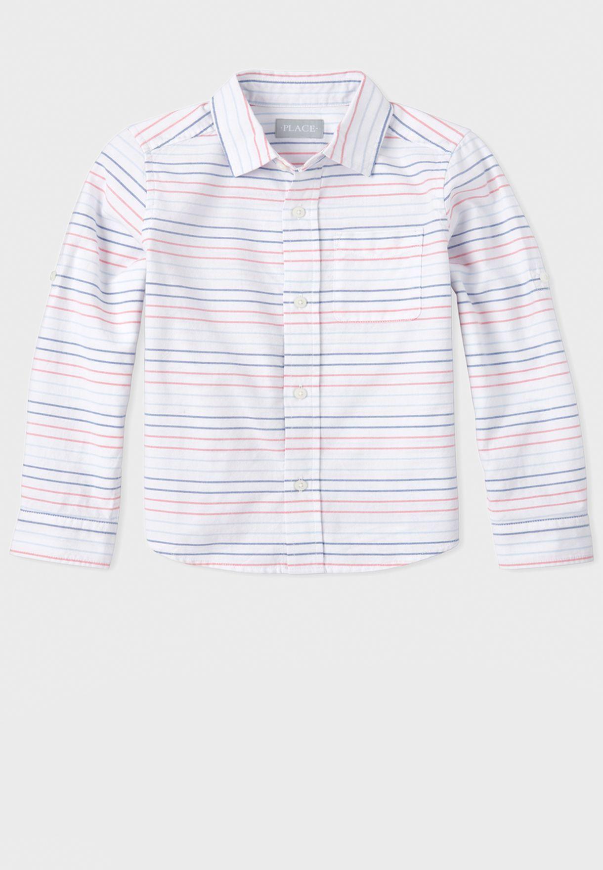 قميص مخطط بجيب