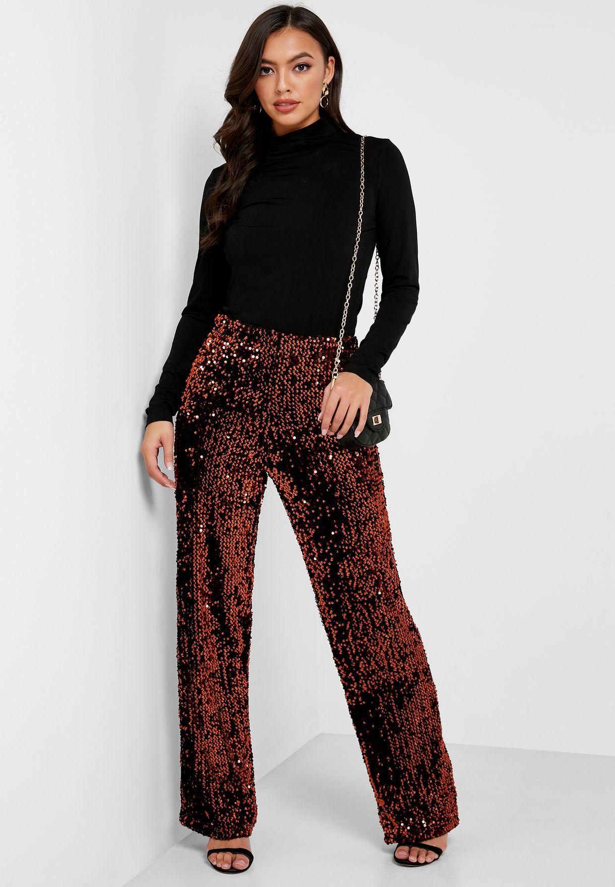 High Waist Shimmer Pants