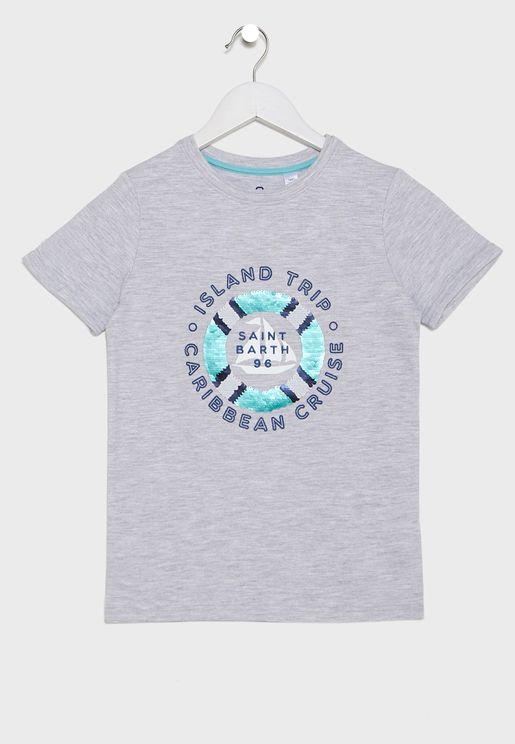 Kids Graphic Crew Neck T-Shirt