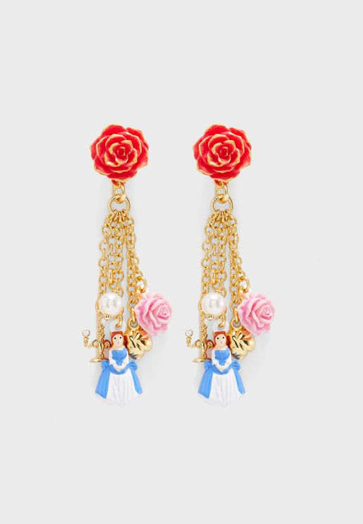 Beauty And The Beast Charm Earring