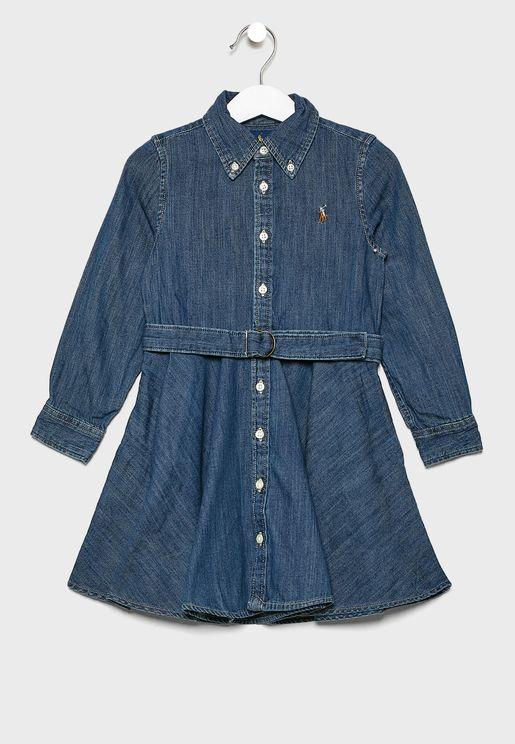 Kids Denim Shirt Dress