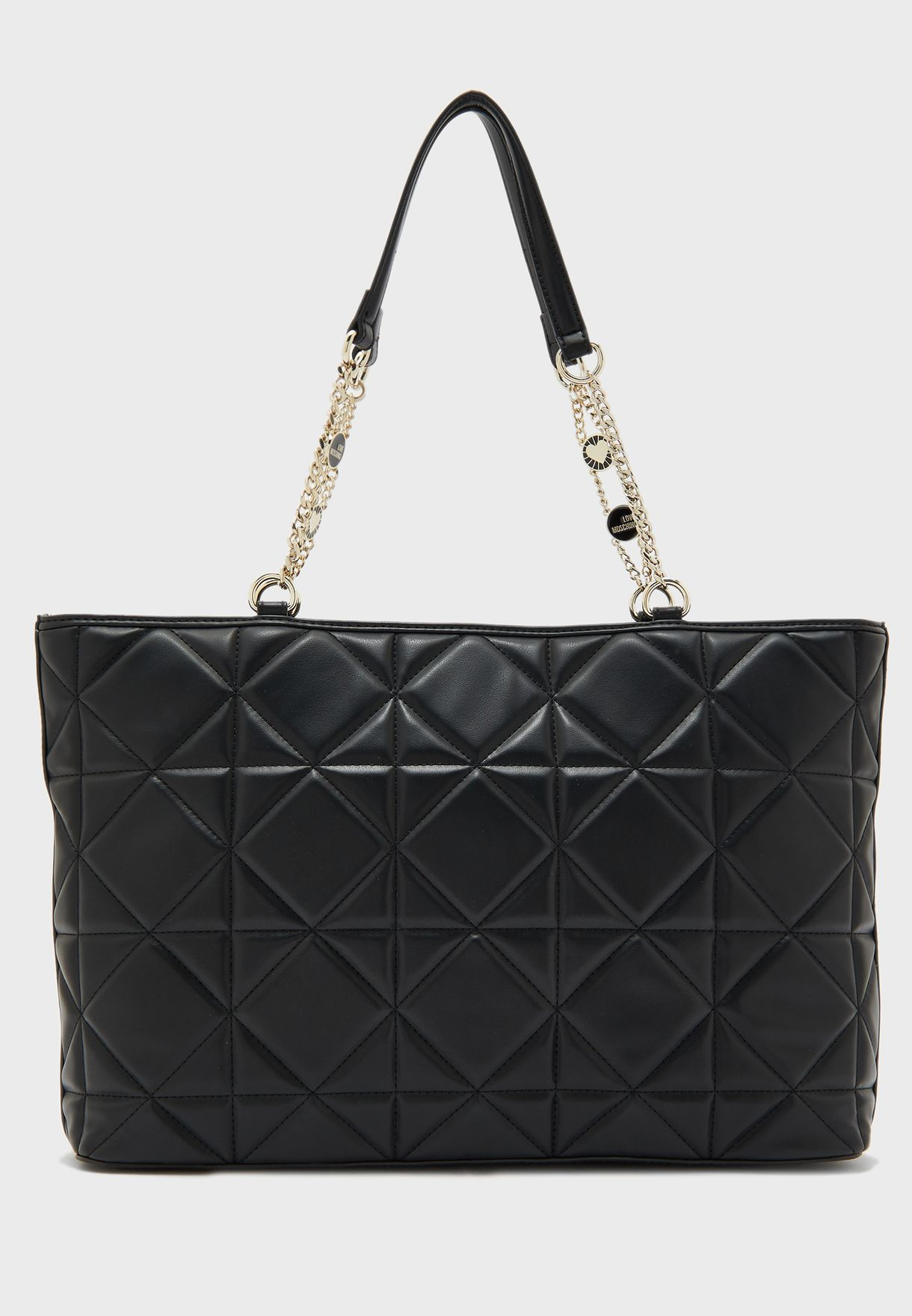 Chain Handle Quilted Tote