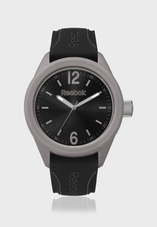 ساعة كاجوال بحزام من السيليكون