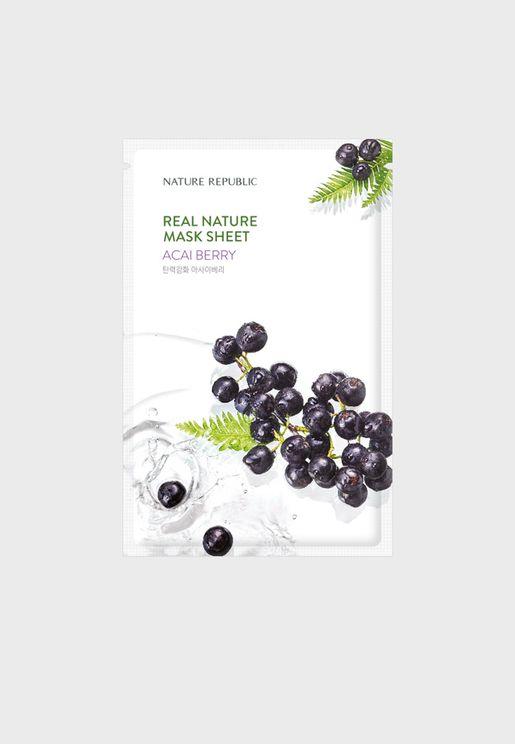 Real Nature Acai Berry Mask Sheet