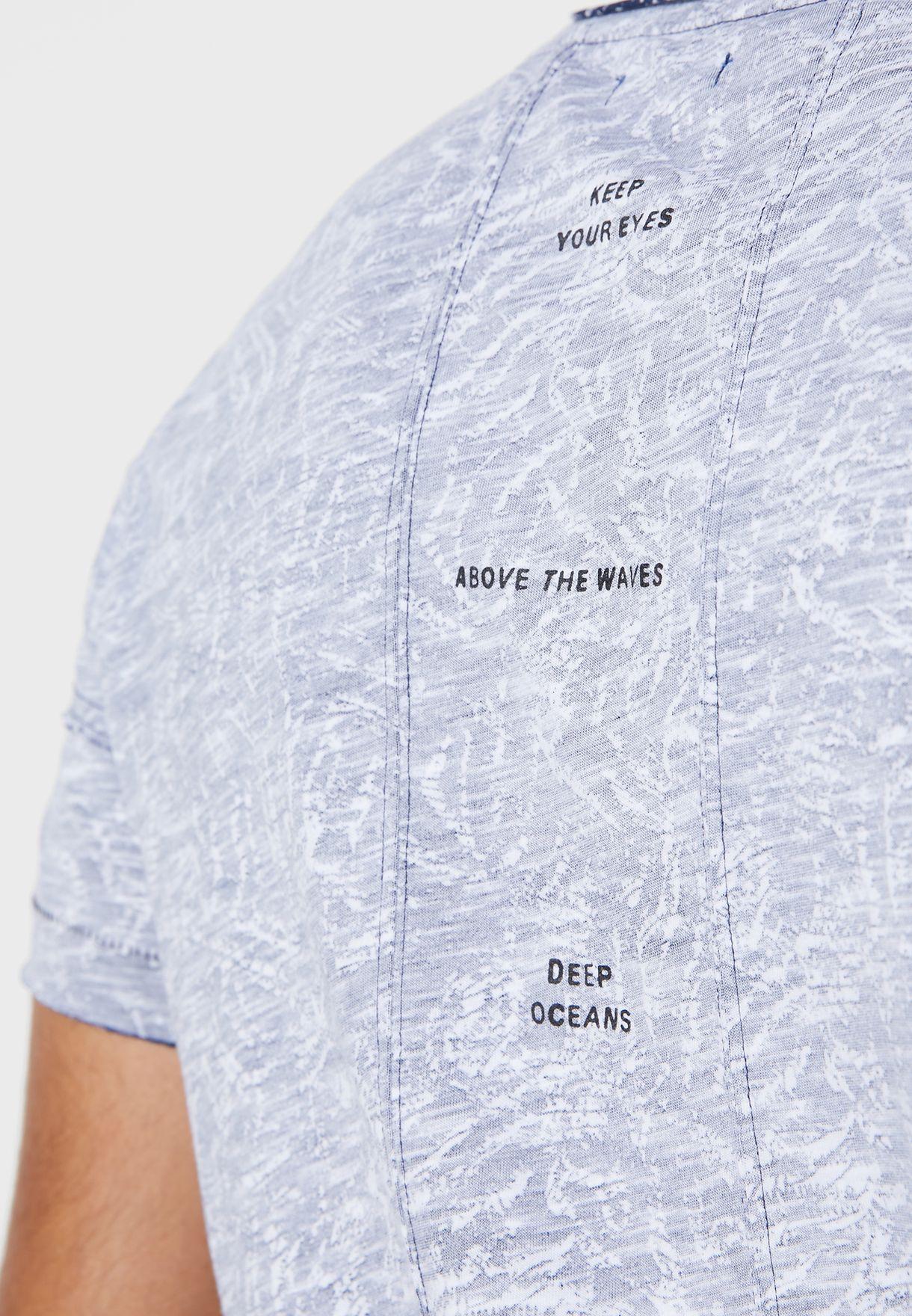 Textured Crew Neck T-Shirt