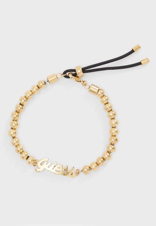 Beads Logo Cord Bracelet