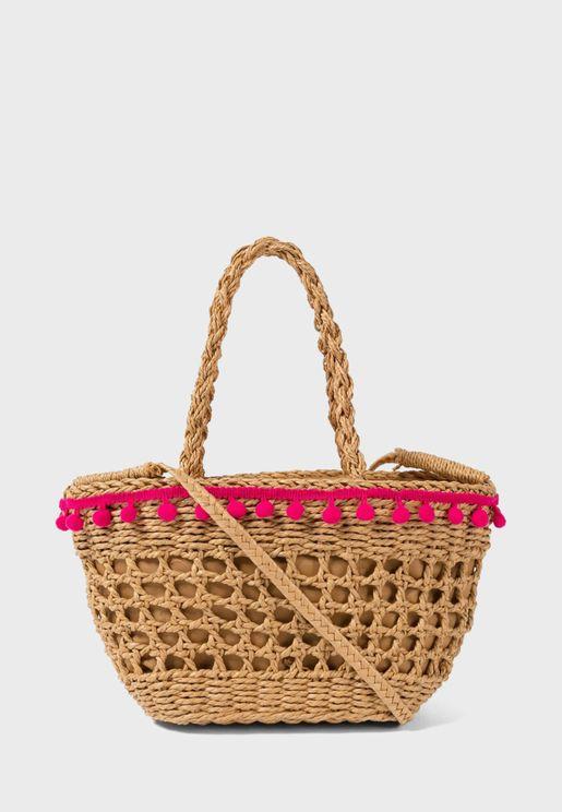 Kids Straw Handbag