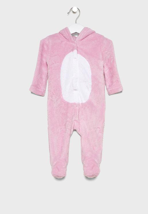Infant Unicorn Hooded Romper