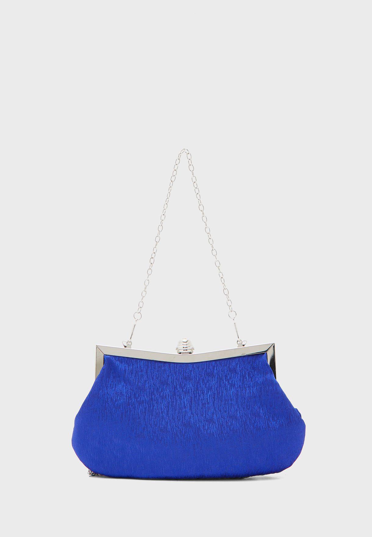 Woven Jewelled Clutch Bag