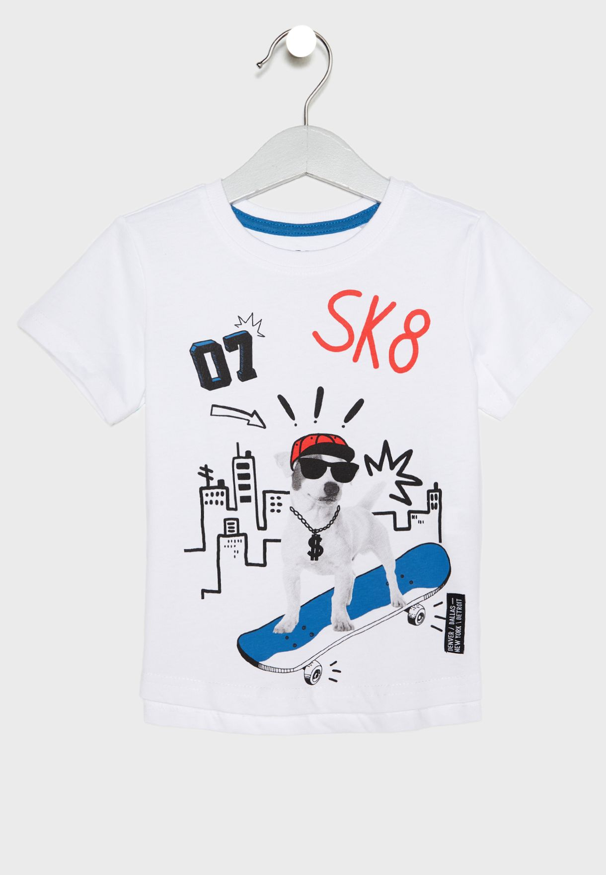 63dae648947 Shop Reserved white Kids Graphic T-Shirt VA201-00X for Kids in UAE ...