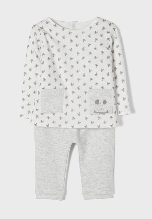 Kids Mickey Mouse T-Shirt + Sweatpants Set