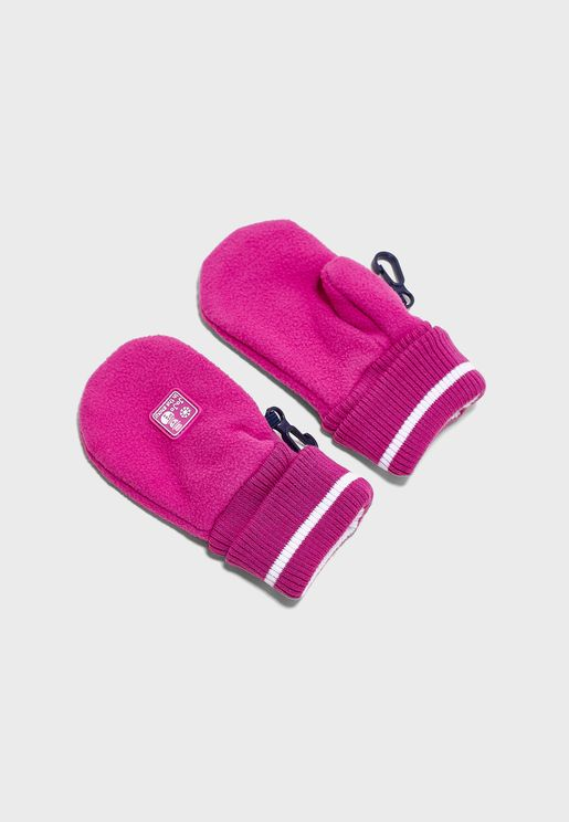 Kids Ribbed Cuff Mittens