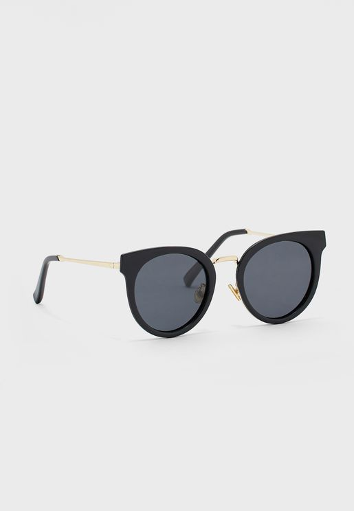 Rounded Cateye Polarized Sunglasses