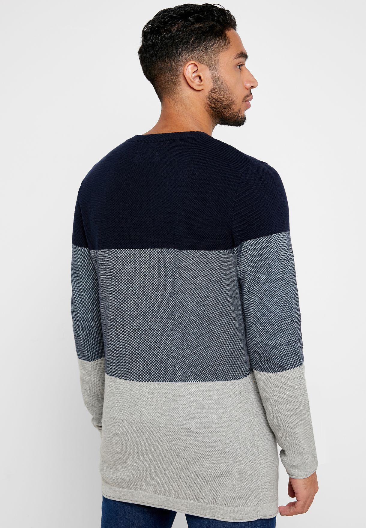 Flash Color Block Sweater