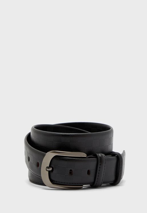 Faux Leather Formal Belt