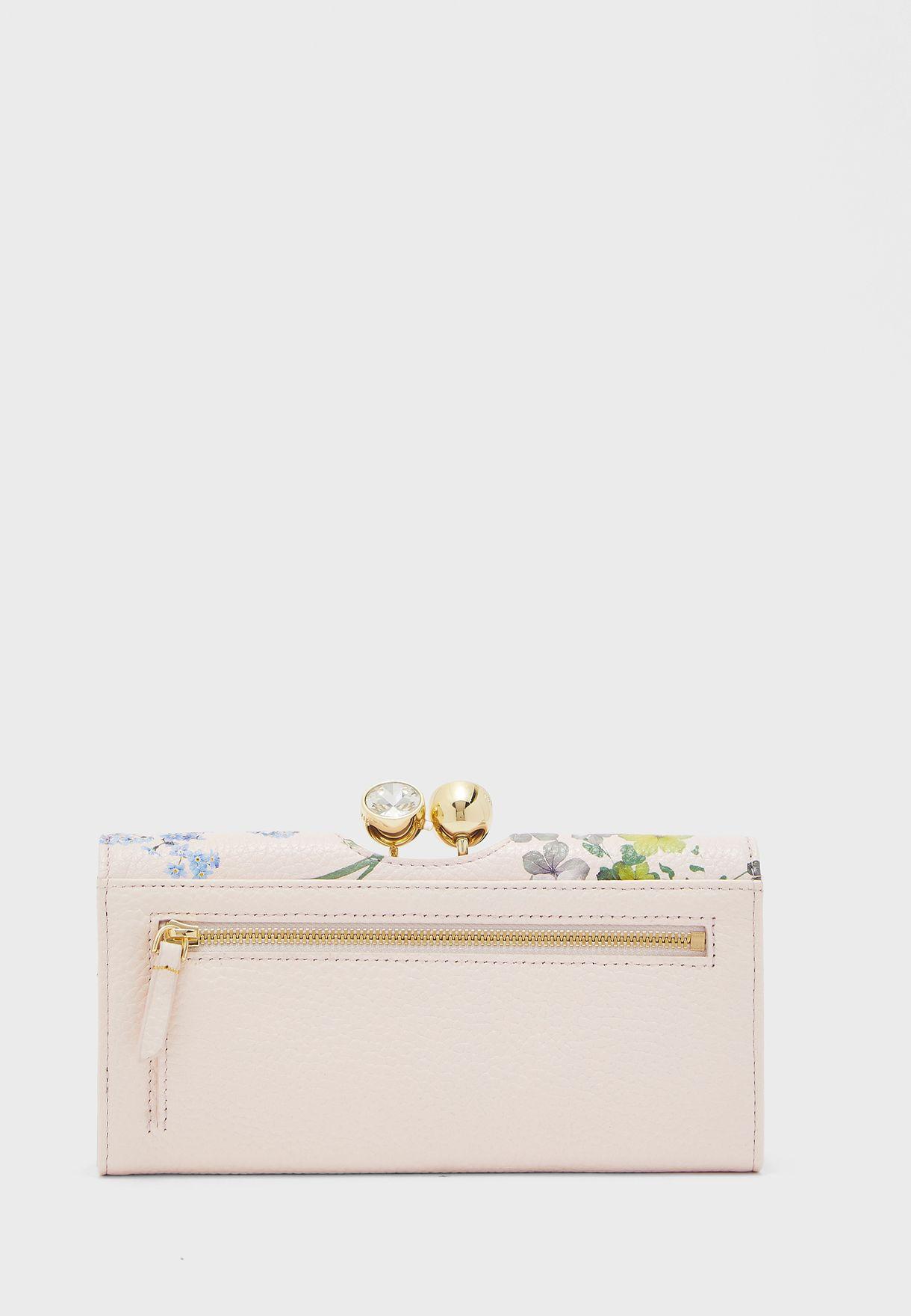 محفظة جلد اصلي مطبعة