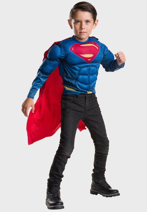 Kids Superman Deluxe Costume Top Set