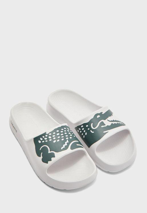 Croco Flat Sandal