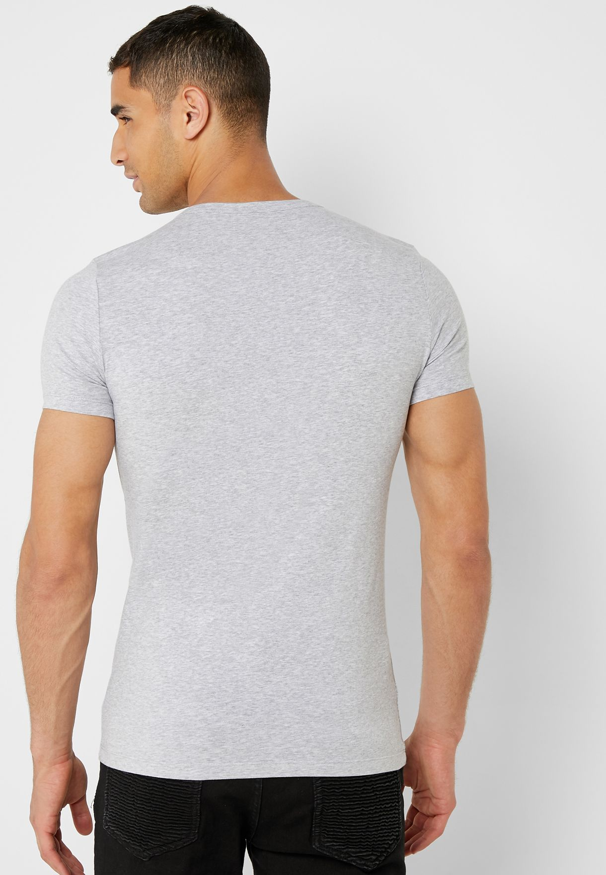 Chest Badge V-Neck T-Shirt