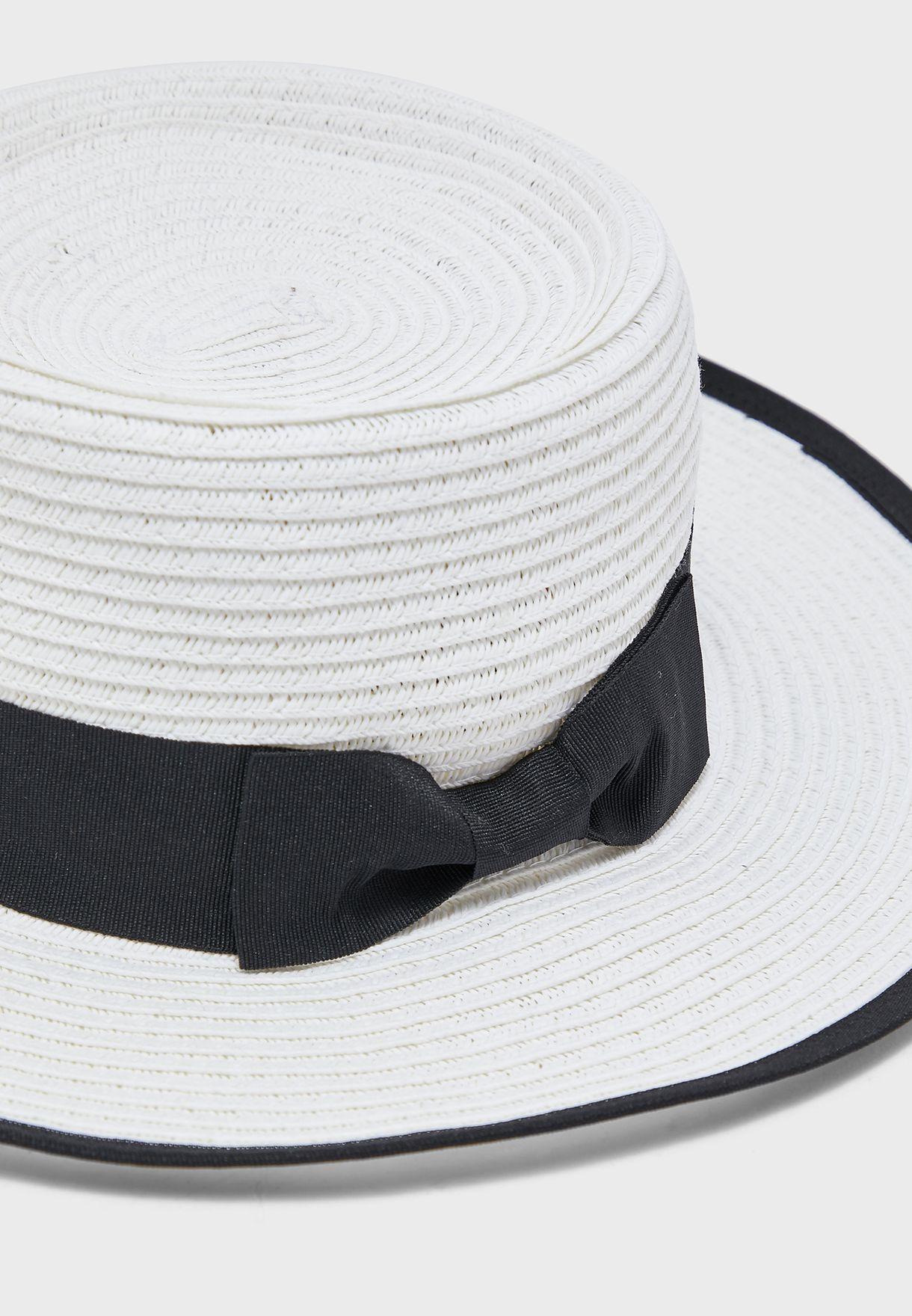 Paper Straw High Crown Straw Hat