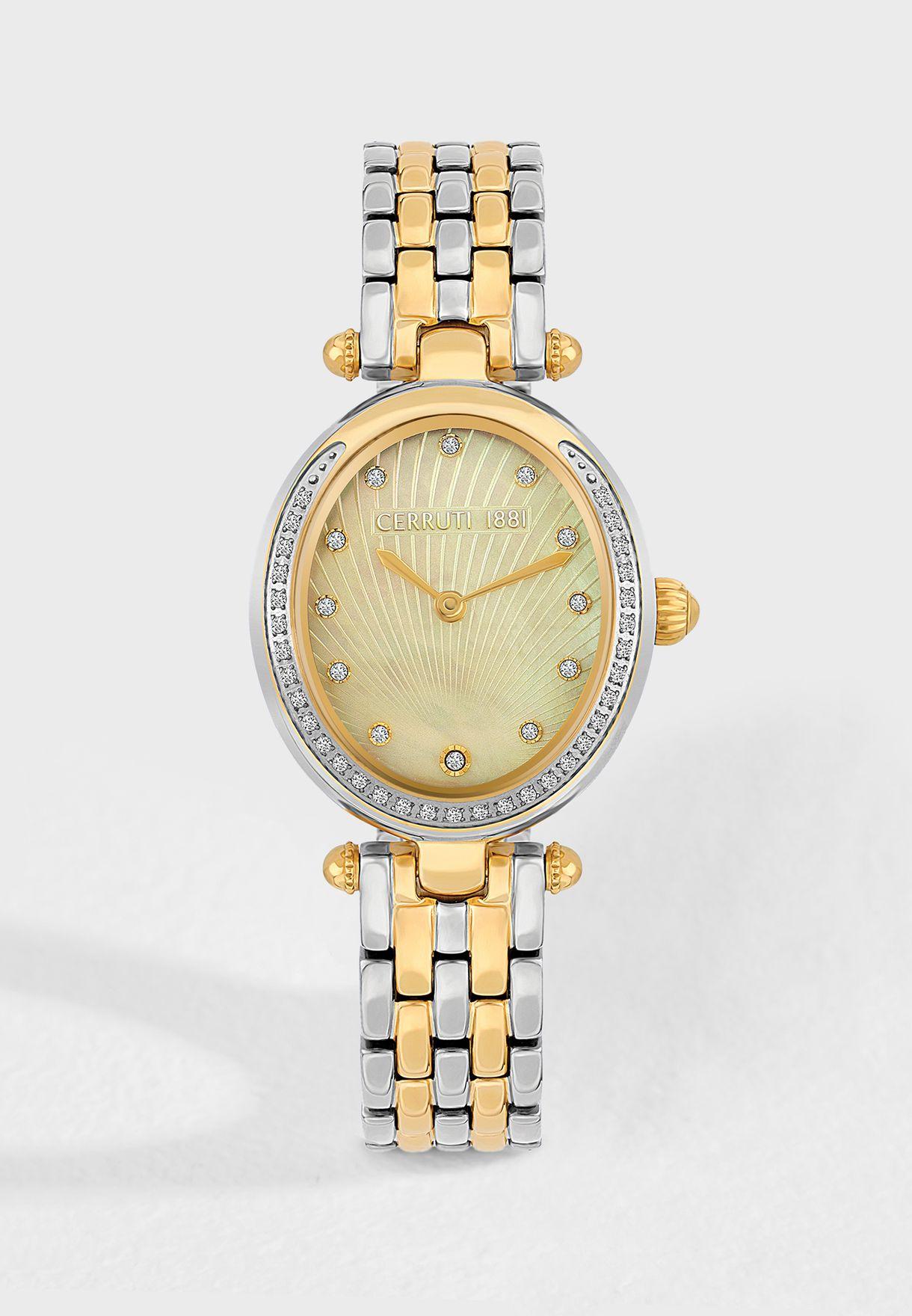 1b295e4a17 Shop Cerruti 1881 silver Nemi Analog Watch C CRWM19907 for Women in ...