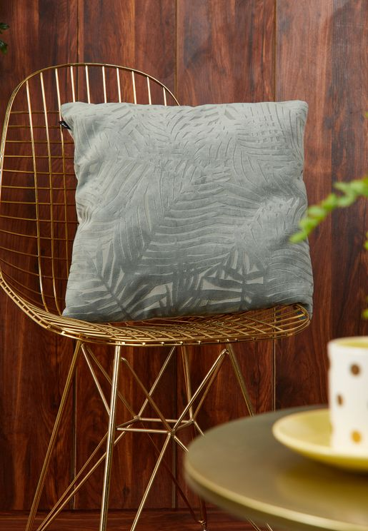 Palm Leaves Velvet Cushion