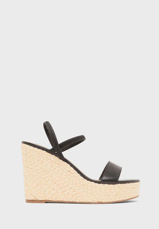 Simply High-Heel Wedge Sandals
