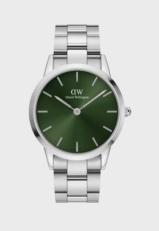 Iconic Link Emerald Silver Watch, 40mm