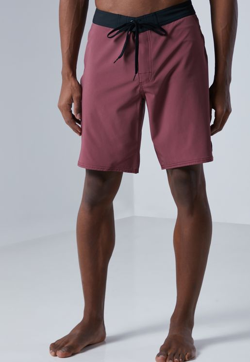 Solid Trunk Swimshorts