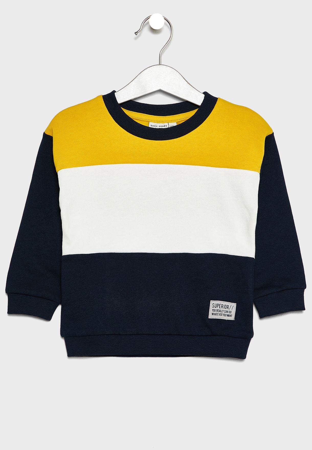 53a0059f13 Kids Color Block Sweatshirt