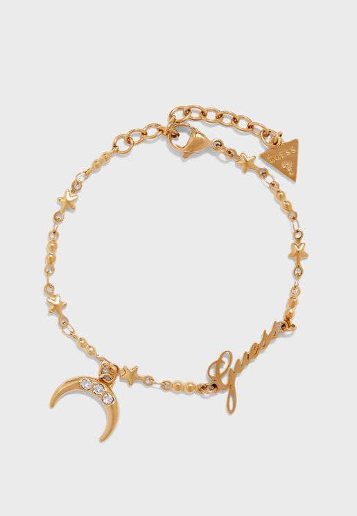 Small Chain And Moon Bracelet