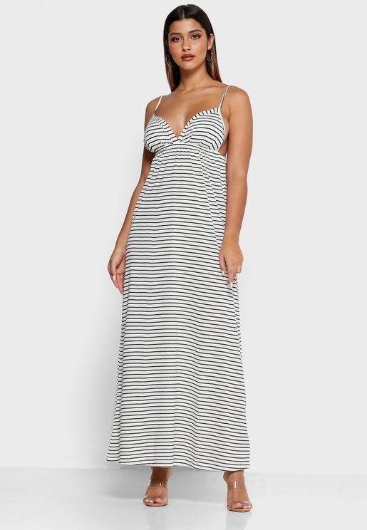 Cami Strap Plunge Dress