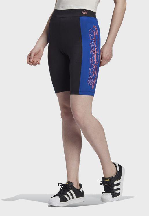 Graphic Colour Block Shorts