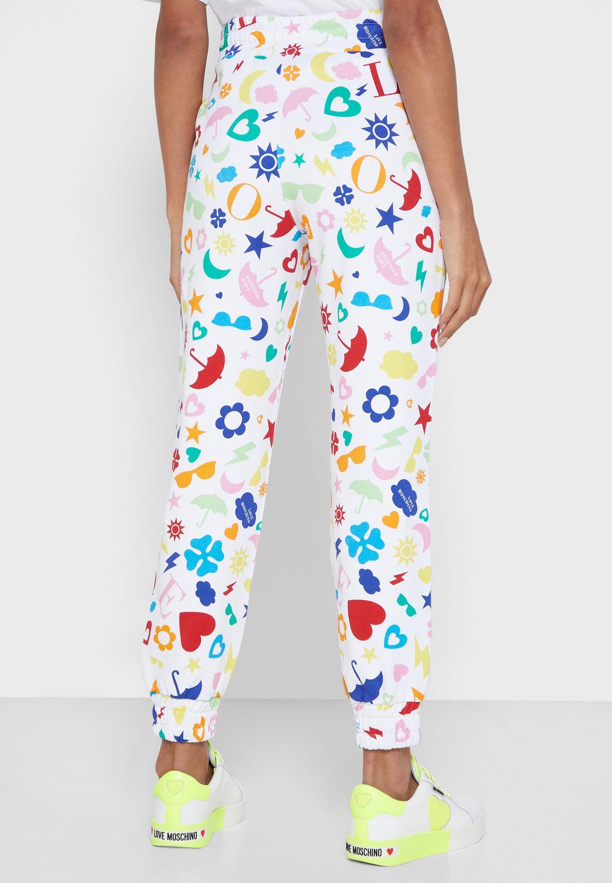 Tie Waist Printed Pants