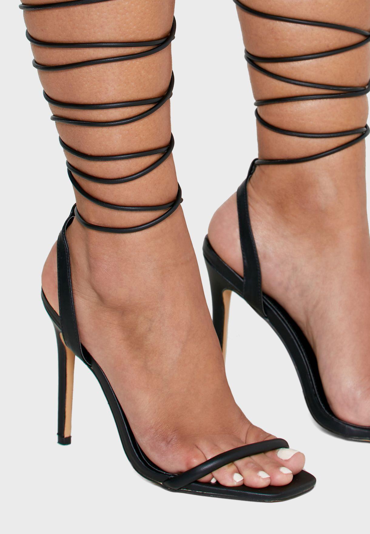 Slingback Ankle Strap High Heel Sandal