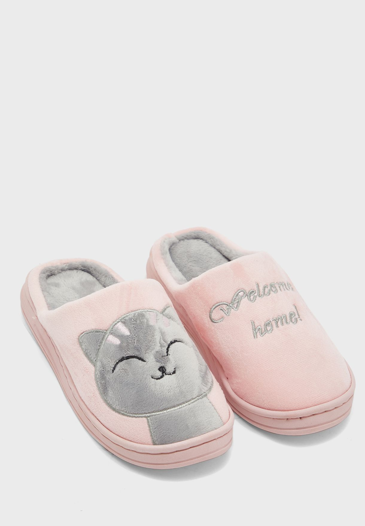 Welcome Home Cat Bedroom Slippers