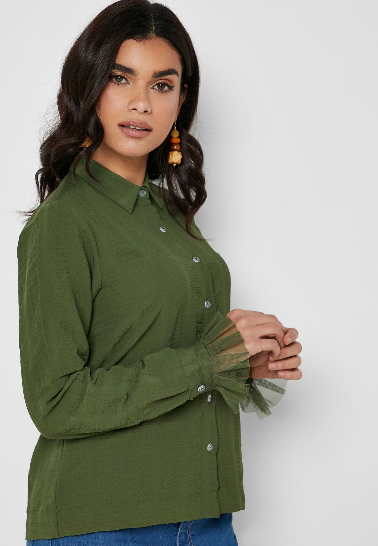 Fringe Cuffed Shirt