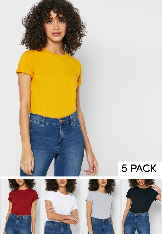 5 Pack Essential Crew Neck T-Shirt