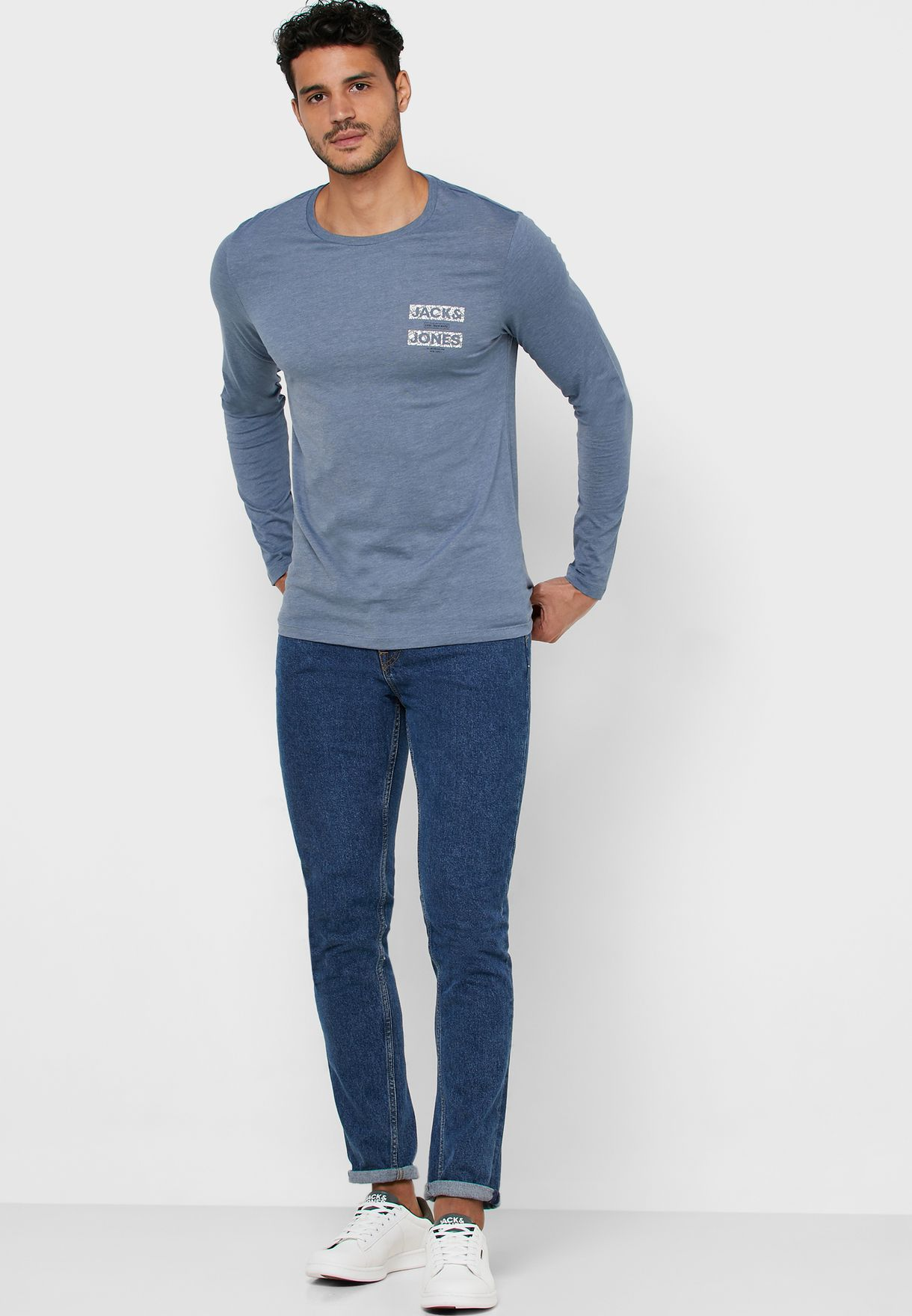 Chest Logo Slim Fit Crew Neck T-Shirt