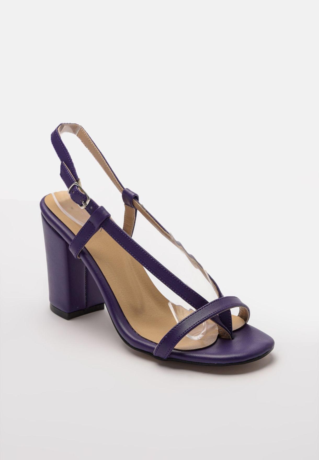 Sling Back Block Heel Sandal