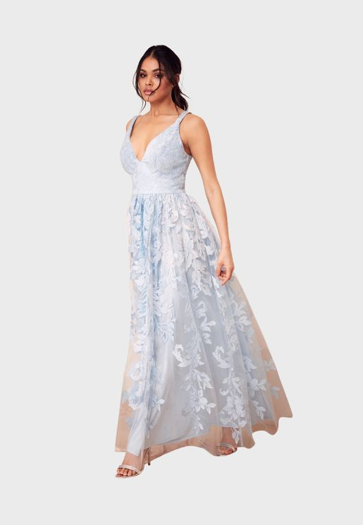 فستان دانتيل ماكسي