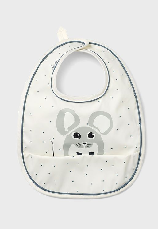 Forest Mouse Max  Baby Bib