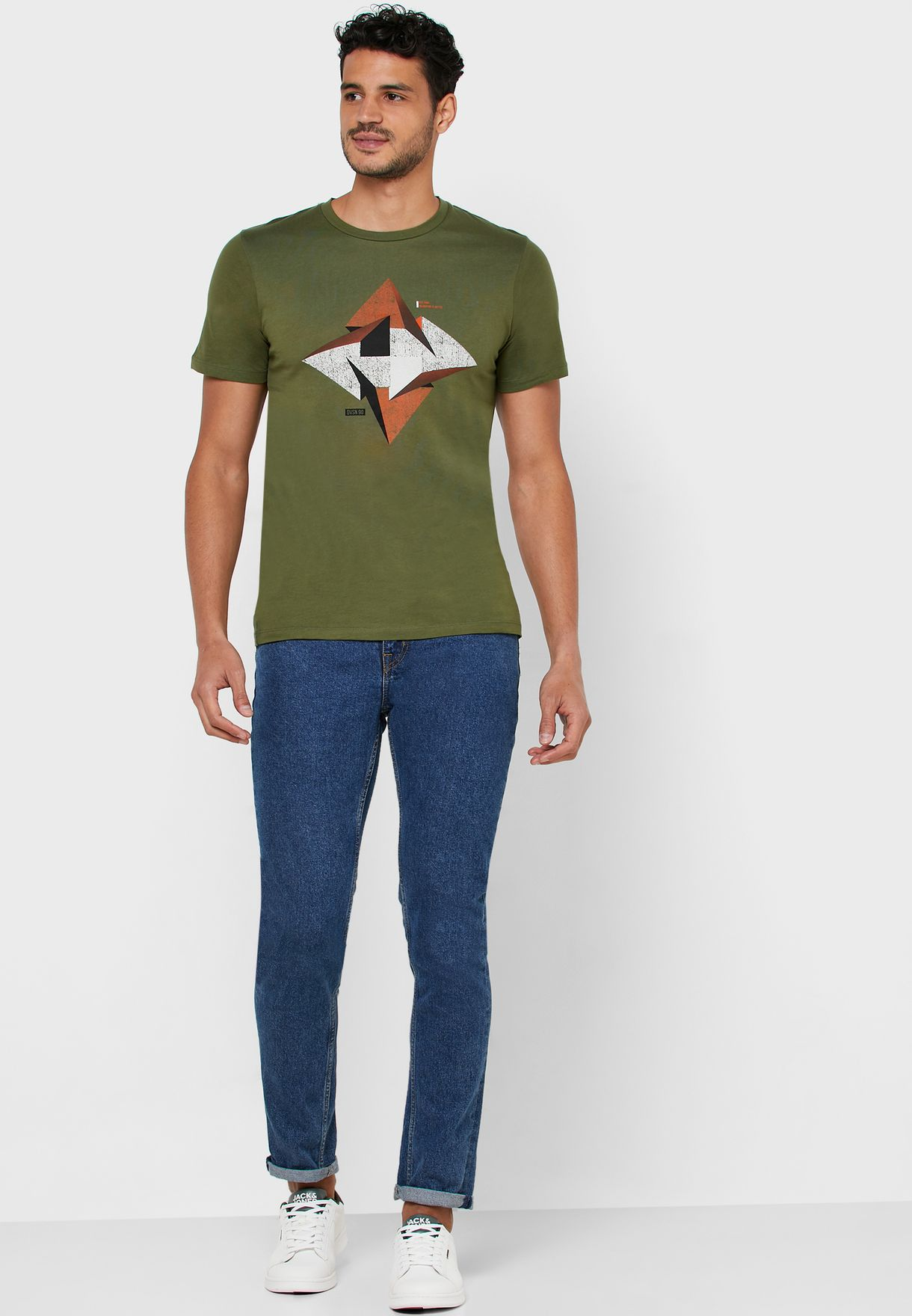 Booster Graphic Crew Neck T-Shirt