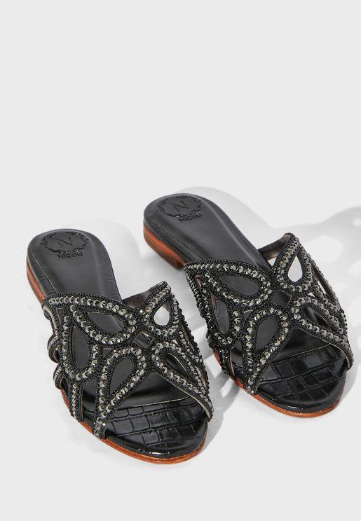 Antery Mid-Heel Sandals