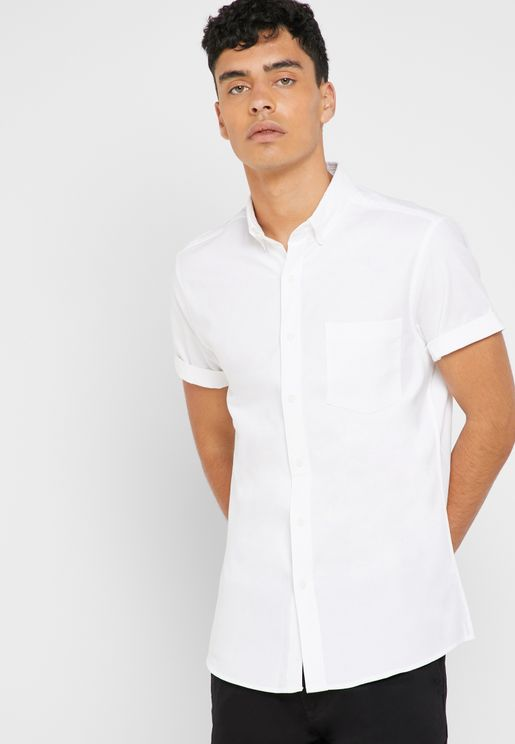 Stretch Skinny Oxford Shirt