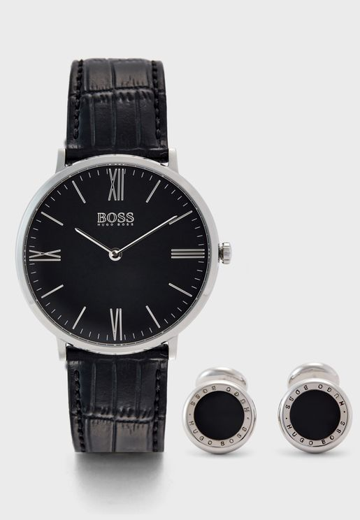 1570076 Gift Set Jackson Analog Watch + Cufflinks