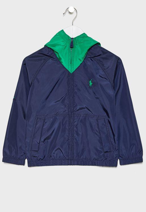 Infant Logo Hooded Jacket
