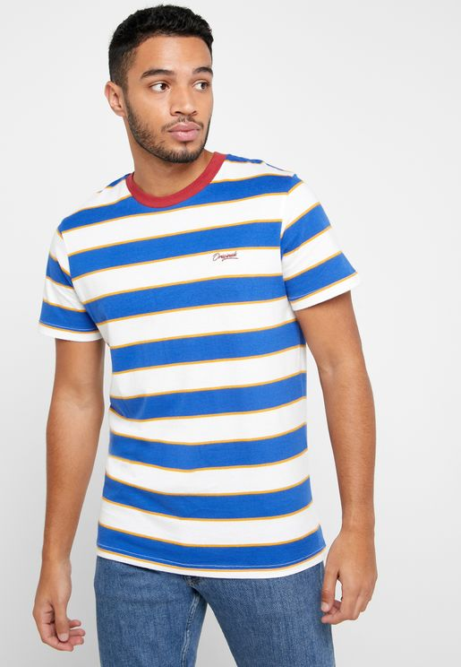 Striped Steen Crew Neck T-Shirt