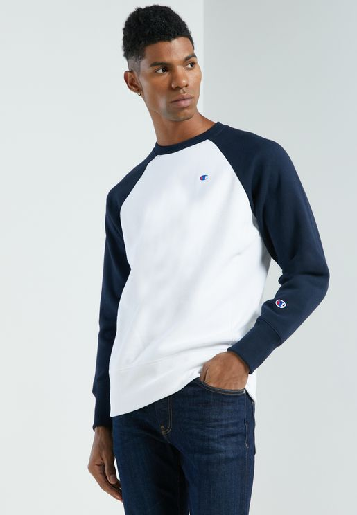 Reverse Weave Colour Block Sweatshirt